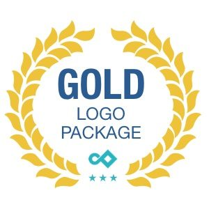 Gold Logo Package Pixel and Curve