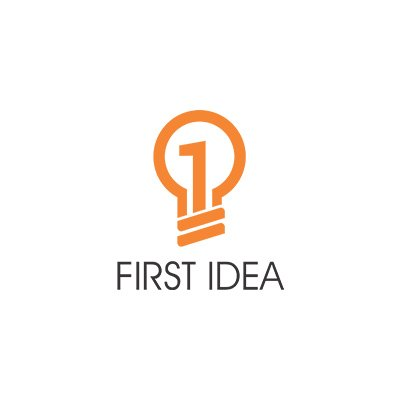 First Idea Logo by Pixel and curve