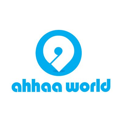 Ahhaa World Logo by Pixel and Curve